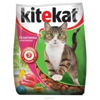 """Корм сухой для кошек """"Kitekat"""", телятина аппетитная, 350 г"""