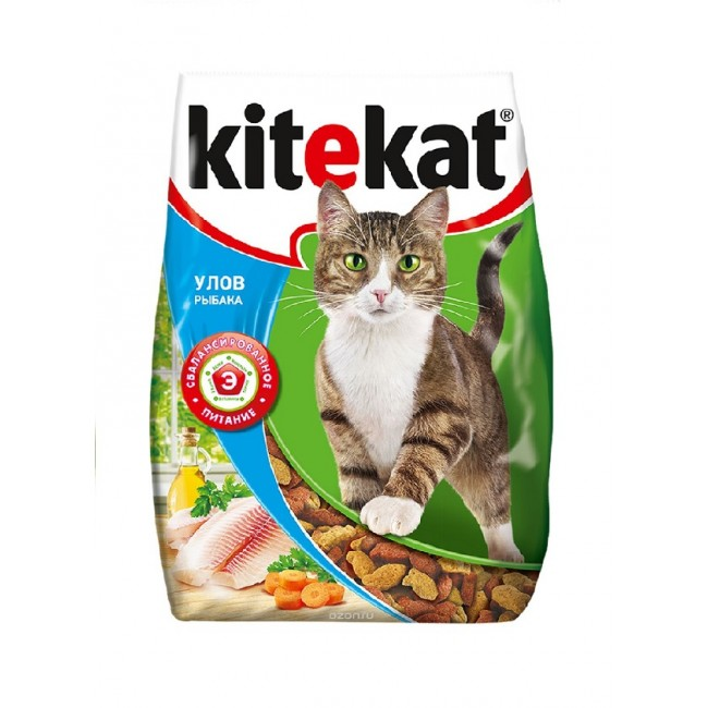 """Корм сухой для кошек """"Kitekat"""", улов рыбака, 350 г"""