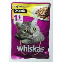 Корм для кошек с курицей желе Whiskas, 85 г․