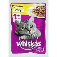 Корм для кошек Whiskas рагу с курицей консерва 85 грамм.