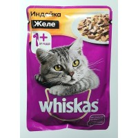 Корм для кошек с индейкой в желе Whiskas, 85 грамм