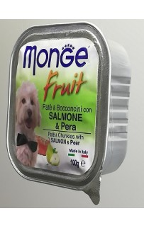 MONGE Fruit 100грамм Лосось и груша.