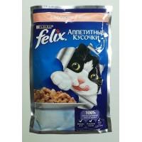 Корм для кошек PURINA Felix  желе из лосося 85 г