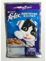 Purina, Корм для кошек, желе из баранины Felix 85 г