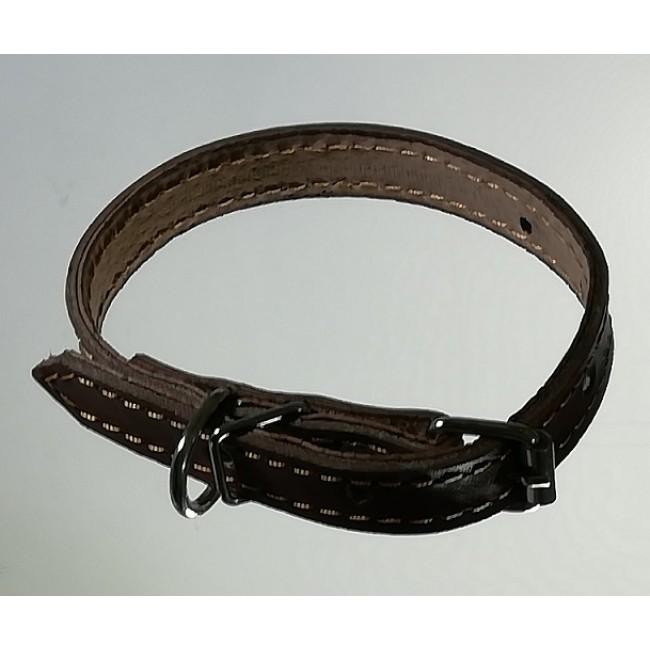 Кожаный ошейник 1,5 см