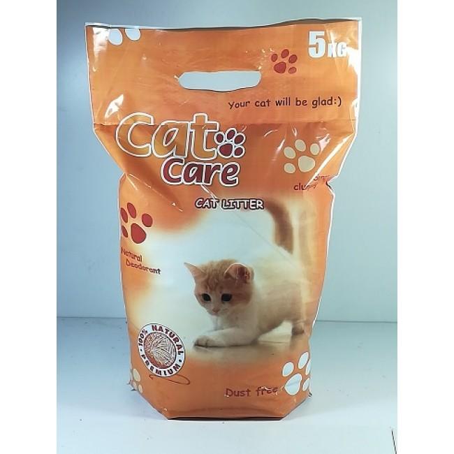 Cat Care, бентонит 5 кг