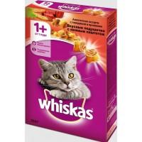 Корм сухой для кошек Whiskas , с говядиной и кроликом